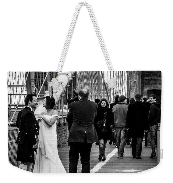 Scottish Wedding Couple Weekender Tote Bag