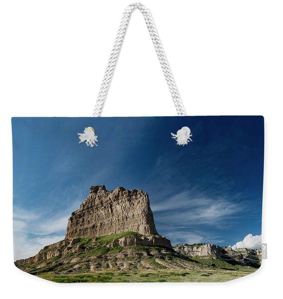 Scottsbluff National Monument In Nebraska Weekender Tote Bag