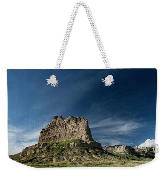 Scottsbluff National Monument In Nebraska Panorama Weekender Tote Bag