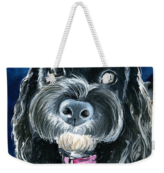 Scout - Cavoodle Dog Painting Weekender Tote Bag