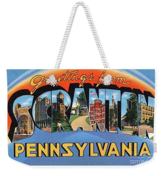 Scranton Greetings Weekender Tote Bag