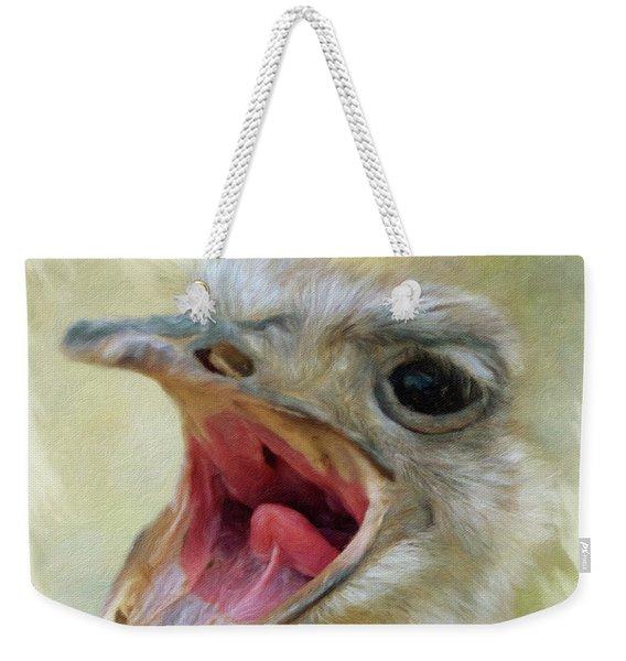 Screaming Ostrich Weekender Tote Bag