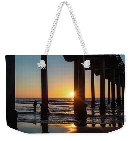 Weekender Tote Bag featuring the photograph Scripps Pier by Robin Zygelman