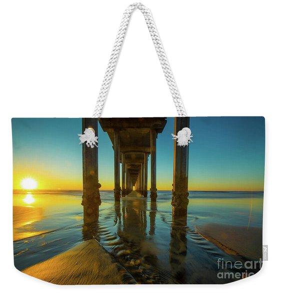 Scripps Pier San Diego Sunset 2 Weekender Tote Bag