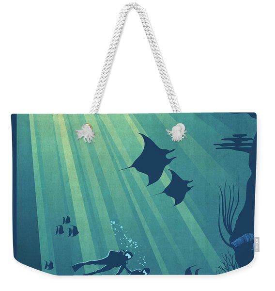 Scuba Dive Weekender Tote Bag