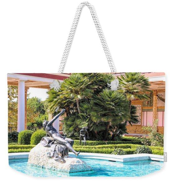Sculptured Pool Side Getty Villa Weekender Tote Bag