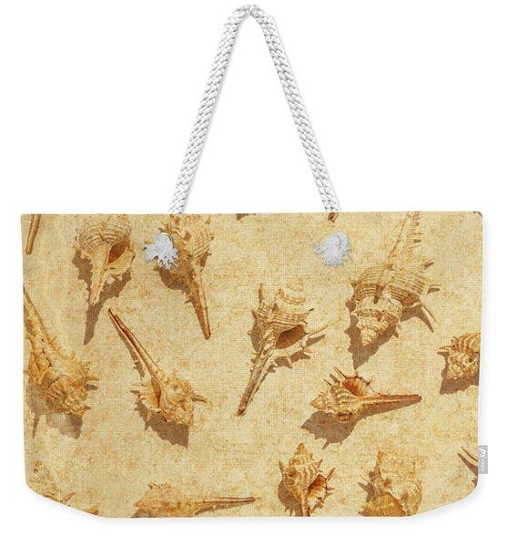 Sea Shell Scroll Weekender Tote Bag