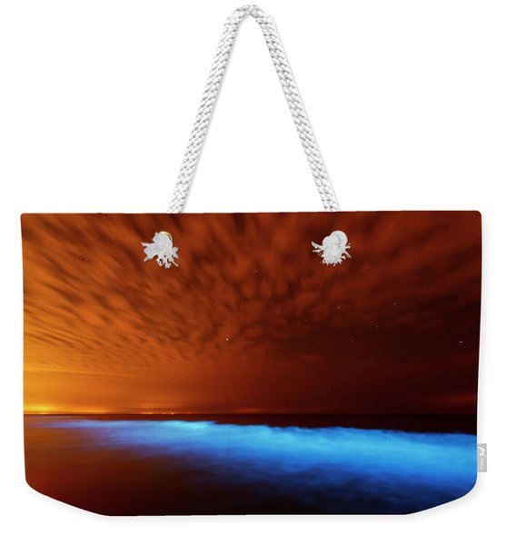 Sea Sparkle Series - Natural Light Show Weekender Tote Bag