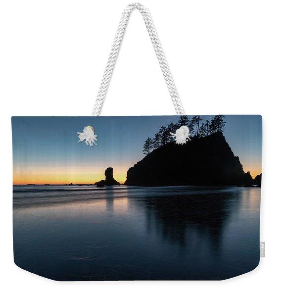 Sea Stack Silhouette Weekender Tote Bag