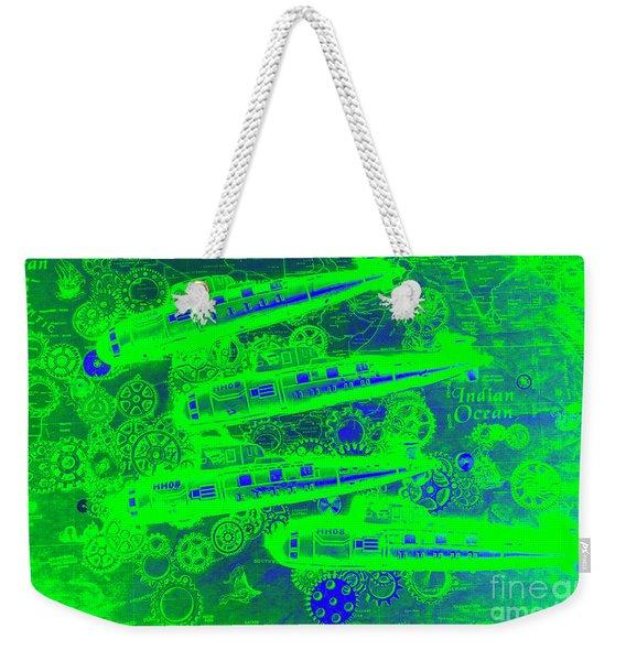 Sea Sub Sonar Weekender Tote Bag
