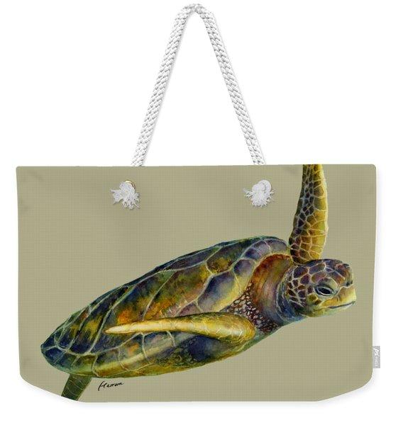 Sea Turtle 2 - Solid Background Weekender Tote Bag