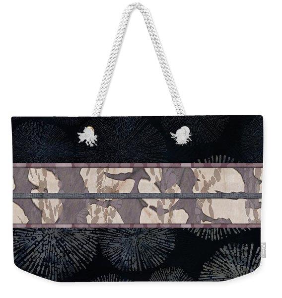 Sea Urchin Contrast Obi Print Weekender Tote Bag