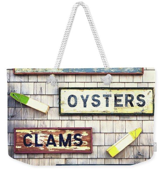 Seafood Signs Weekender Tote Bag