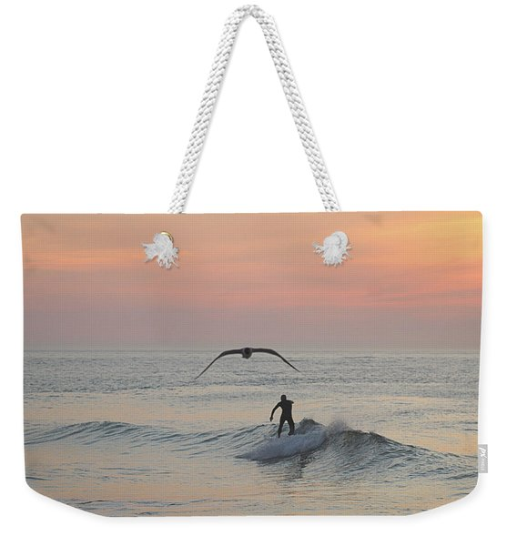 Seagull And A Surfer Weekender Tote Bag