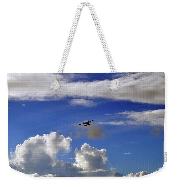Seaplane Skyline Weekender Tote Bag