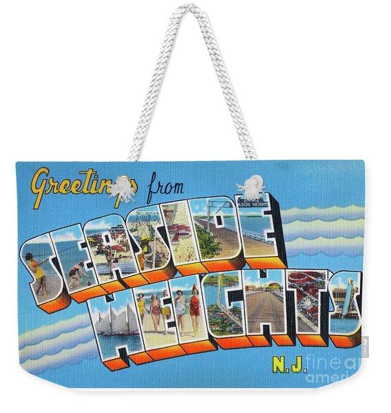 Seaside Heights Greetings Weekender Tote Bag