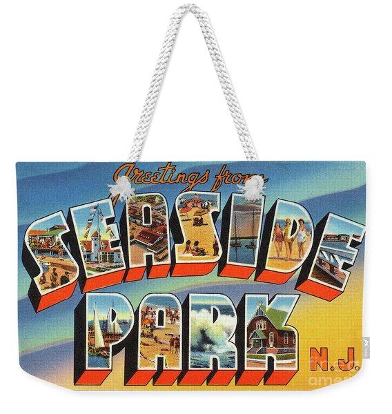Seaside Park Greetings Weekender Tote Bag
