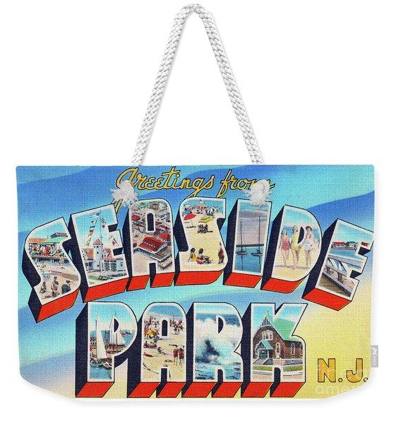 Seaside Park Greetings - Version 2 Weekender Tote Bag