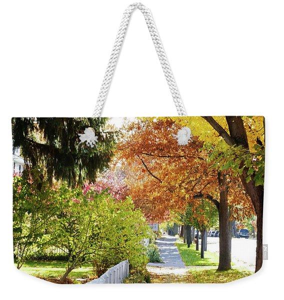 Seasons Sidewalk Stroll Weekender Tote Bag