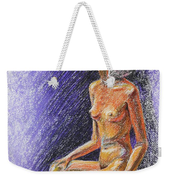 Seated Nude Model Study In Pastel  Weekender Tote Bag