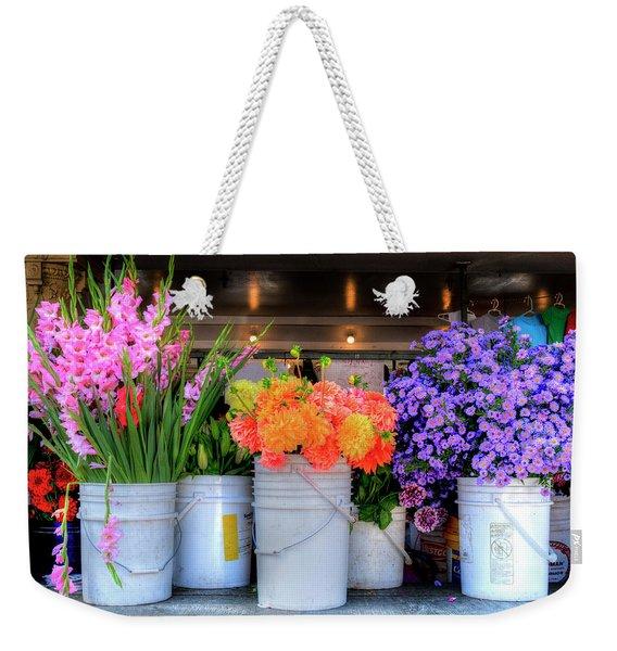 Seattle Flower Market Weekender Tote Bag