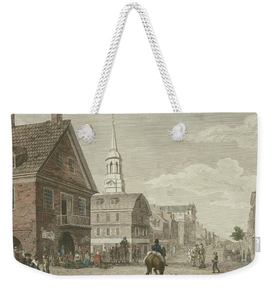 Second Street North From Market St. And Christ Church Weekender Tote Bag