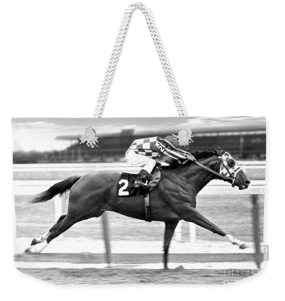 Secretariat, Belmont Stakes, Back Stretch Weekender Tote Bag