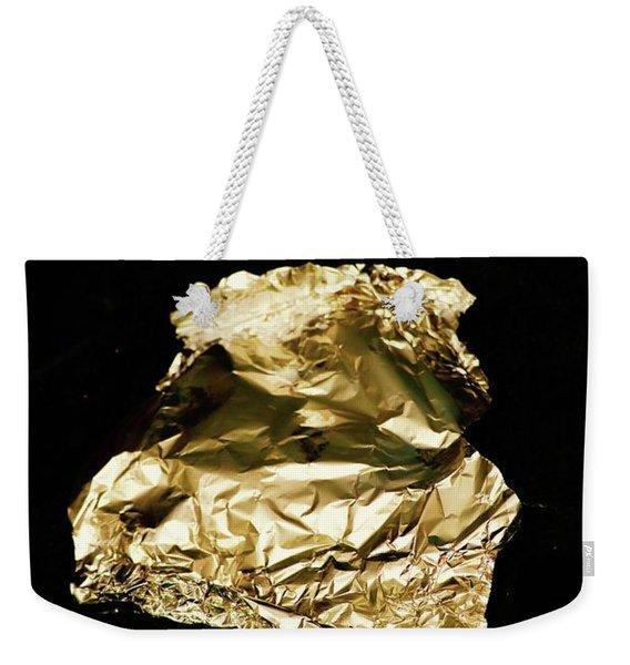 Sel Portrait Tin Foil Gold Tint Weekender Tote Bag
