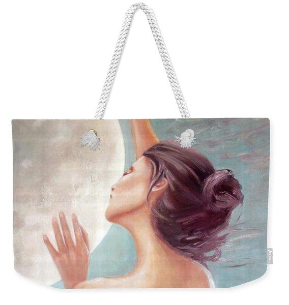 Selene Moon Goddess Weekender Tote Bag