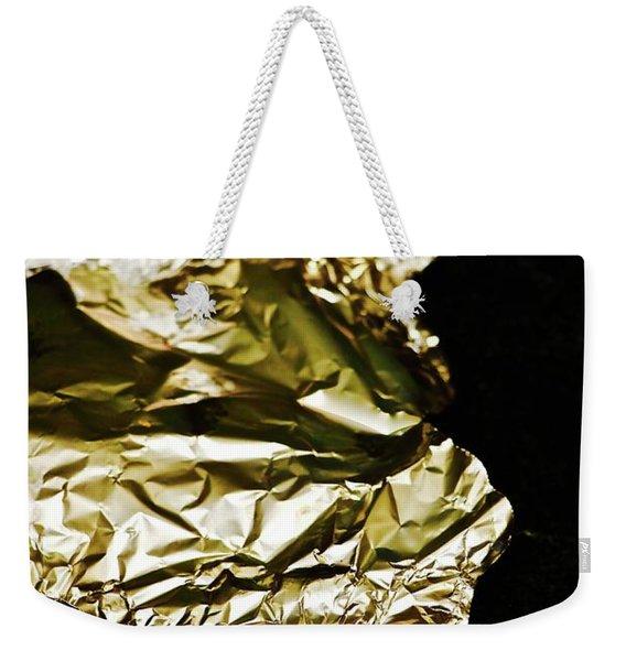 Self Portrait In Gold Tinted Foil Weekender Tote Bag