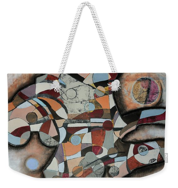 Weekender Tote Bag featuring the painting Semi-solid Ground by Mark Jordan