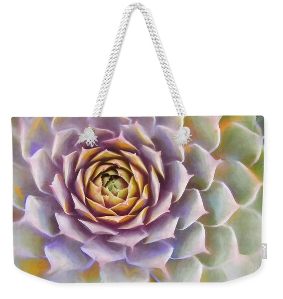 Sempervivum Succulent Painterly Look Weekender Tote Bag