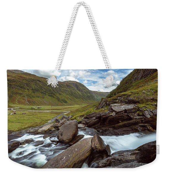 Sendefossen, Norway Weekender Tote Bag