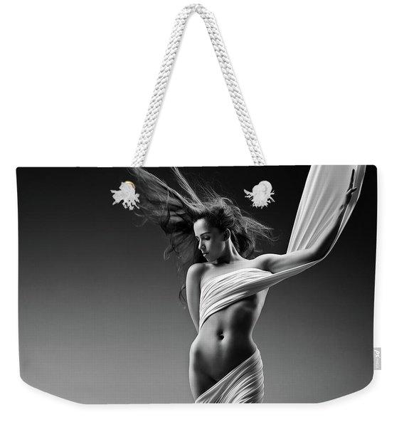 Sensual Woman In Cloth Weekender Tote Bag