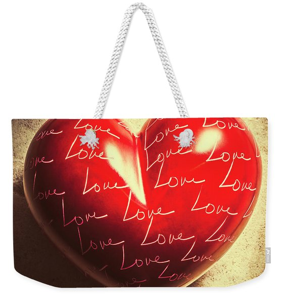 Sentimental Weekender Tote Bag