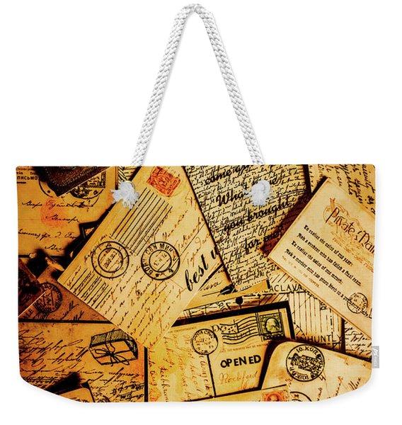 Sentimental Writings Weekender Tote Bag