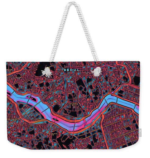 Seoul City Map Weekender Tote Bag