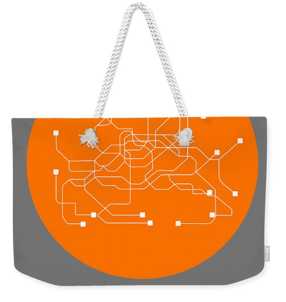 Seoul Orange Subway Map Weekender Tote Bag