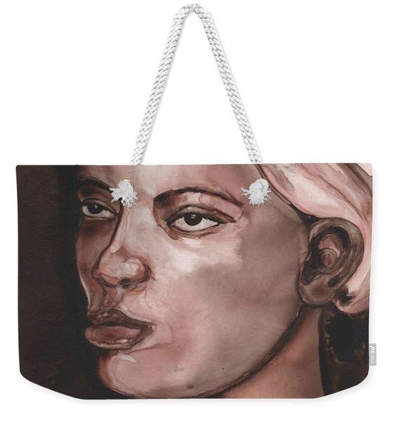 Sepia Woman Weekender Tote Bag