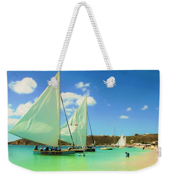 Set Your Sails At Sandy Ground In Anguilla Weekender Tote Bag