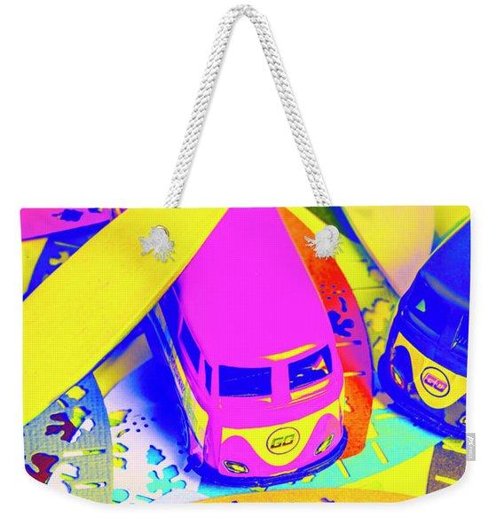 Seventies Surf Scenes Weekender Tote Bag