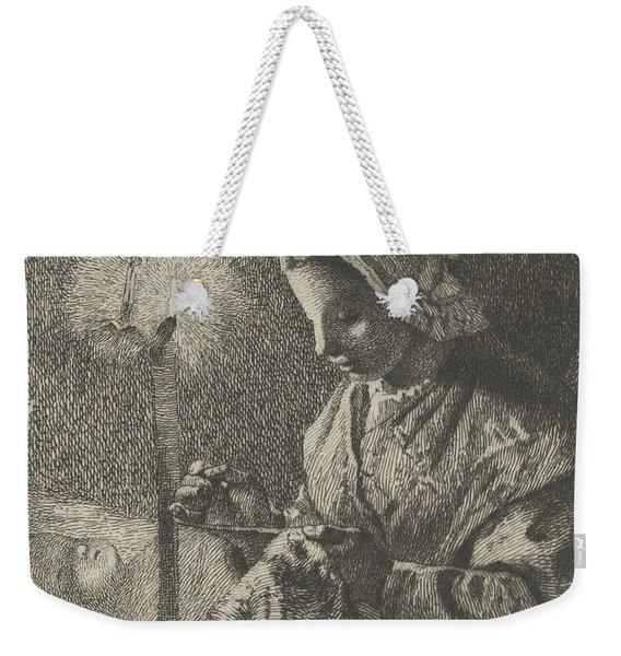 Sewing By Lamplight Weekender Tote Bag