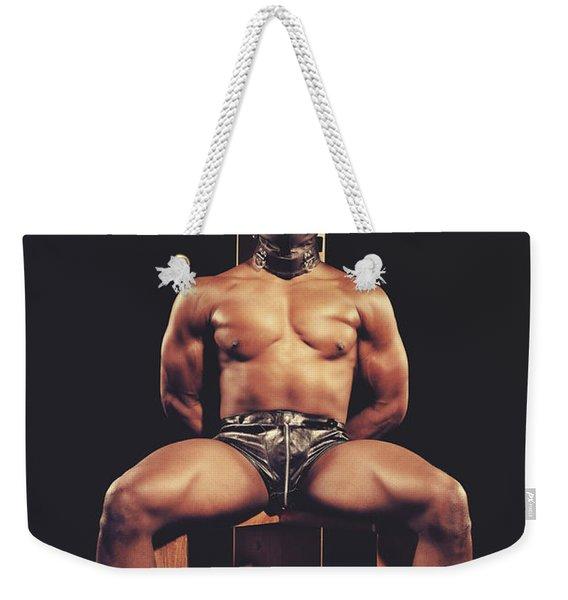 Sexy Man Tiedup On A Bdsm Chair Weekender Tote Bag