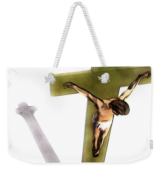 Shadow Of The Cross Weekender Tote Bag