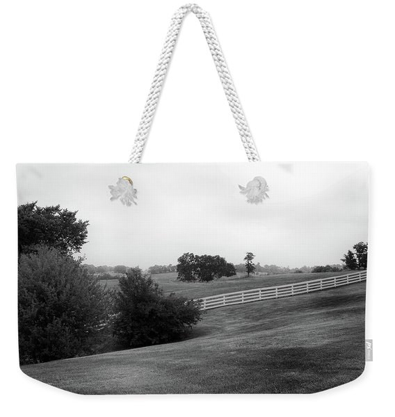 Weekender Tote Bag featuring the photograph Shaker Field by Mark Jordan