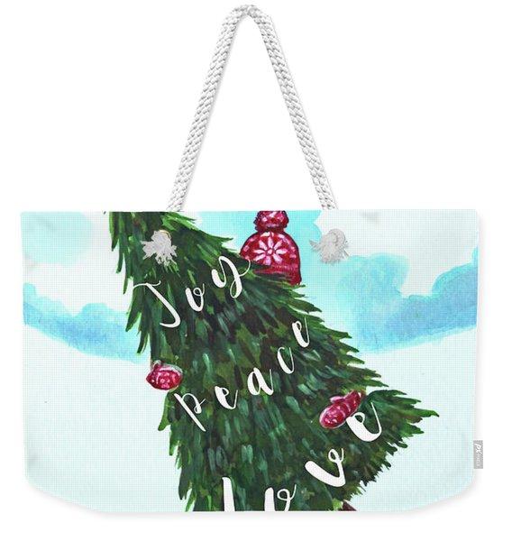 She Chose Joy, Peace And Love Weekender Tote Bag