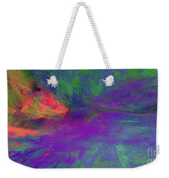 She Is Clothed In Fine Linen And Purple Weekender Tote Bag