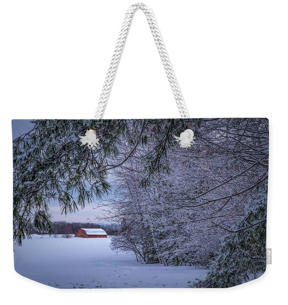 Shed At Sunset Weekender Tote Bag