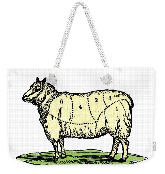 Sheep, Cuts Of Meat Weekender Tote Bag
