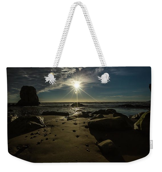 Shell Beach Sunburst Weekender Tote Bag
